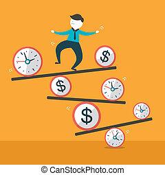 flat design vector illustration concept of balance