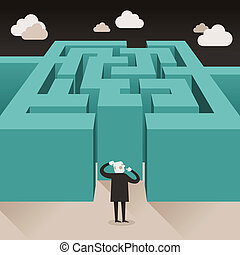 flat design illustration concept of challenge - flat design ...