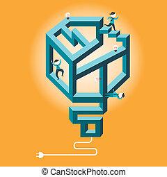 flat design illustration concept of confused