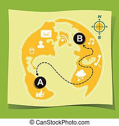 flat design illustration concept of guide