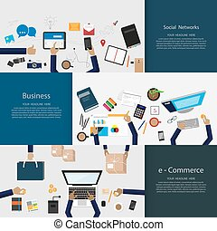 Flat Design Illustration Concepts For Business.