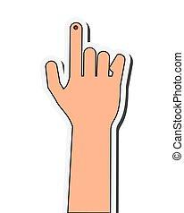 index finger bleeding icon - flat design index finger...