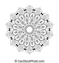intricate mandala with hearts icon