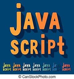 Flat design. java script