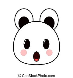 kawaii bear emoticon icon