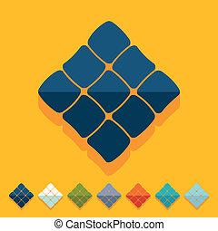 Flat design: ketupat