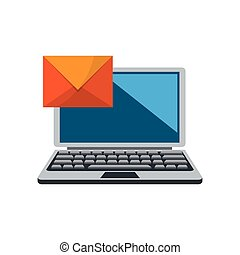 laptop and envelope icon