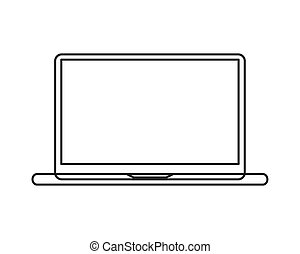 laptop frontview icon