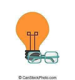 lightbulb and glasses icon