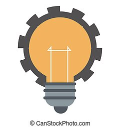 lightbulb with gear icon