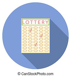 Flat design lottery icon