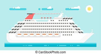 Flat design luxury cruise