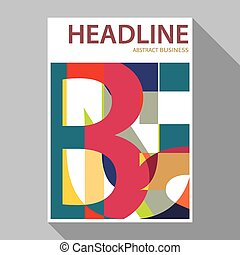 flat design magazine cover , flyer, brochure templates