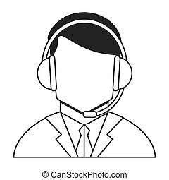 male person with headset icon