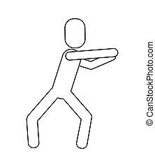 man pictogram dancing icon