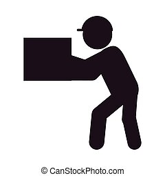 man with box icon