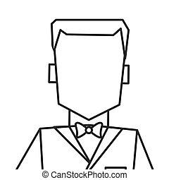 man with tuxedo portrait icon