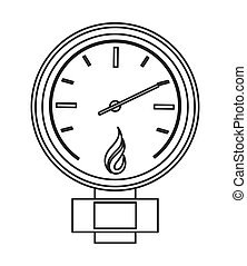 manometer or pressure gauge icon