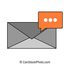 message envelope and conversation bubble icon