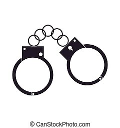 metal handcuffs icon