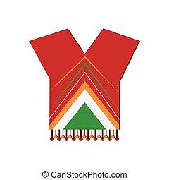 mexican poncho icon - flat design mexican poncho icon vector...