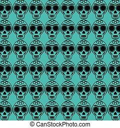 mexican Sugar Skull pattern