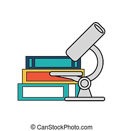 microscope and books  icon