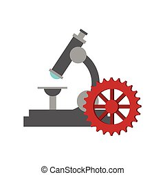 microscope and gears  icon