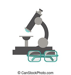 microscope and glasses  icon