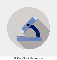 Flat design microscope icon