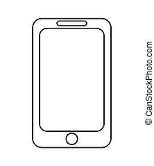 modern cellphone icon - flat design modern cellphone icon...