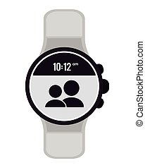 modern digital watch icon