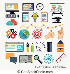 Flat Design Modern Icons