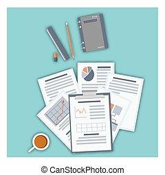 Flat design modern vector illustration icons set. Blue background