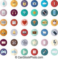 Flat design modern vector illustration icons set of SEO website