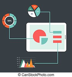 Flat design modern vector illustration icons set of website SEO optimization, programming process and web analytic elements. Isolated on stylish colored background