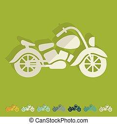 Flat design: motorcycle