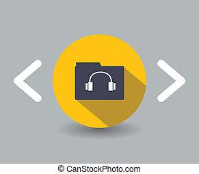 flat design music icon