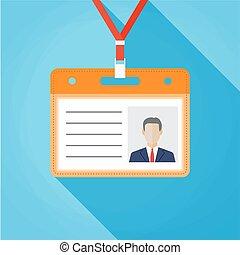 Flat design name tag badge template