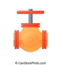 flat design natural gas pipeline icon