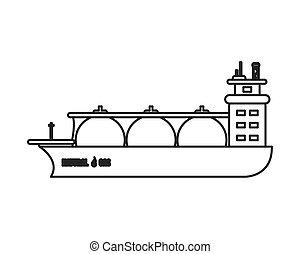 natural gas ship icon