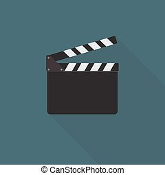Flat Design Of Clapper Board Illustration