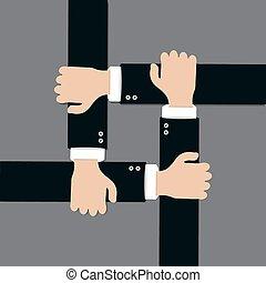 Flat design of hand icons set