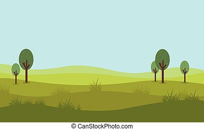 Flat design of nature landscape vector