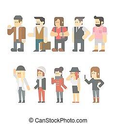 Flat design of travel people set