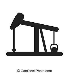 oil pump icon - flat design oil pump icon vector ...