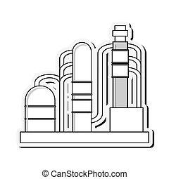 oil refinery pipeline bridge icon