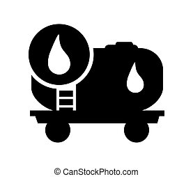 oil tank and droplet icon
