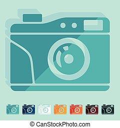 Flat design: old photocamera
