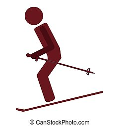 skiing pictogram icon